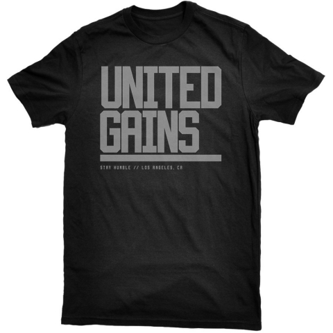 United Gains - Bold Tee Black
