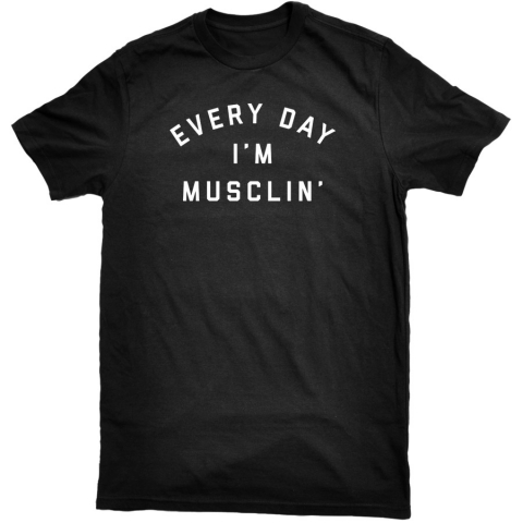 United Gains - Everyday I'm Musclin' Tee Black