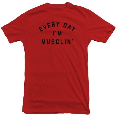 United Gains - Everyday I'm Musclin' Tee