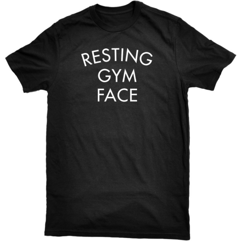 United Gains - Resting Gym Face Tee Black