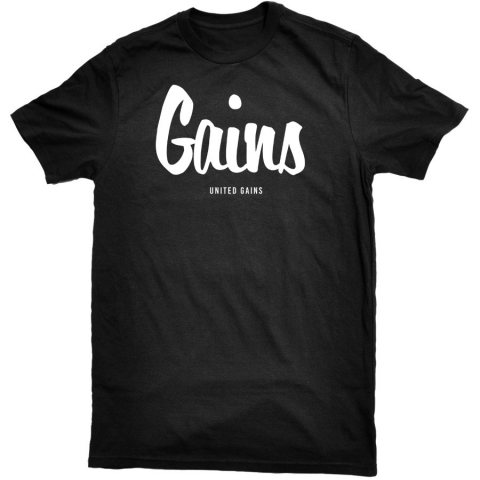 United Gains - Gains Tee Black